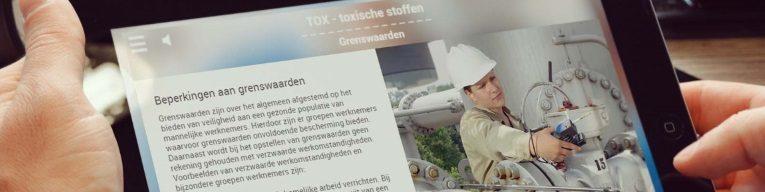 Voorbeeld van een scherm uit de Dräger e-learning Gasmeten Ex-Ox-Tox