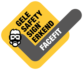 Gele Safety sign face-fittest